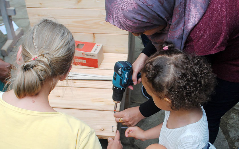 Frauenprojekt Gartengestaltung partizipation Interkultur Berlin