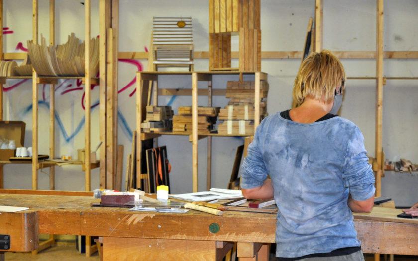 Restholzwerkstatt Workshops Haus der Materialisierung Baufachfrau Berlin