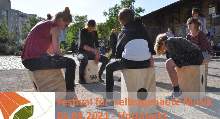 Festival selbstgebaute Musik Workshop Cajon Baufachfrau Berlin