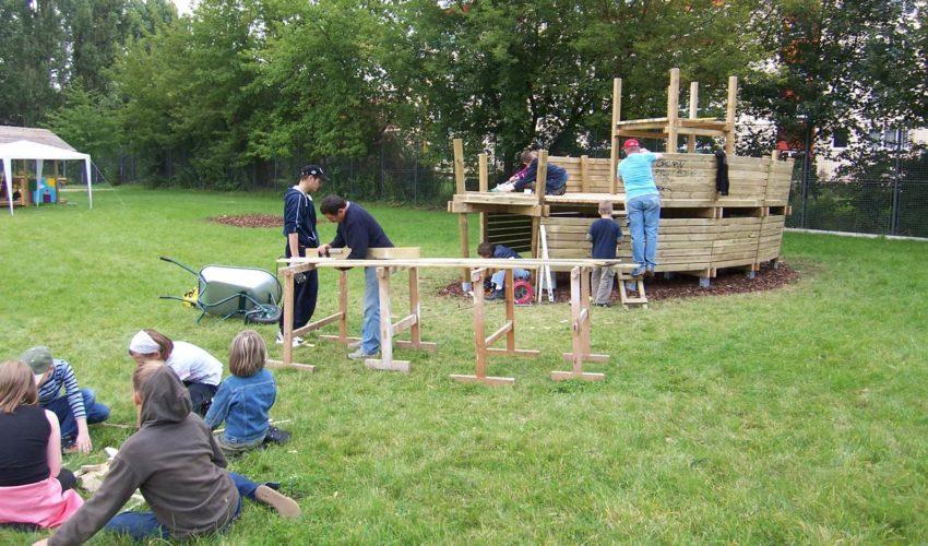 Spielplatzerweiterung Kletterschiff